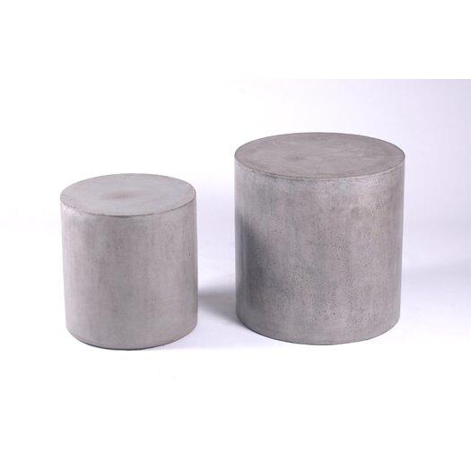 Mixx 2-Piece Una Pedestals End Table Set