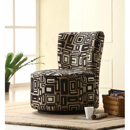 Woodbridge Home Designs Brown Geometric Easton Chair
