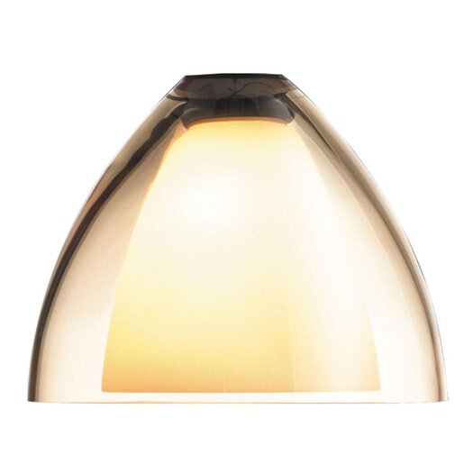 "Bruck Lighting 4.5"" Rainbow Glass Bell Track Head Shade"
