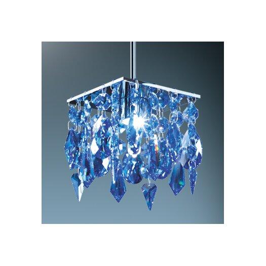Bruck Lighting Cristello 1 Light Mini Pendant with Canopy