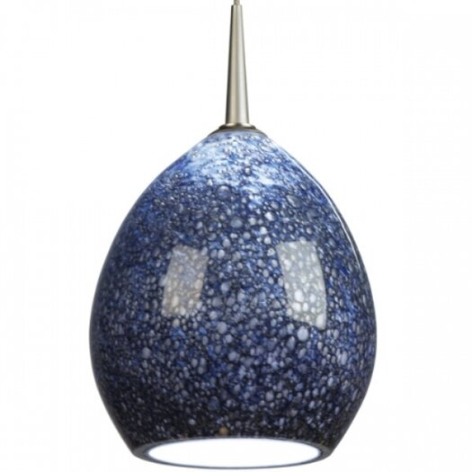 Bruck Lighting Vibe Down Pendant with Pacific Glass Shade