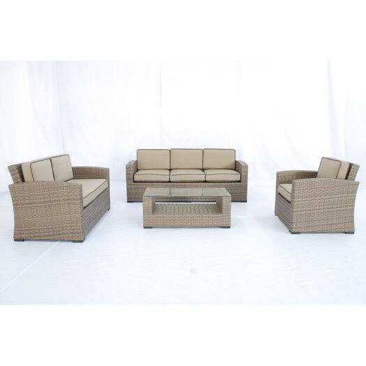 Creative Living Ferrara 1-2-3 4 Piece Deep Seating Group with Cushions