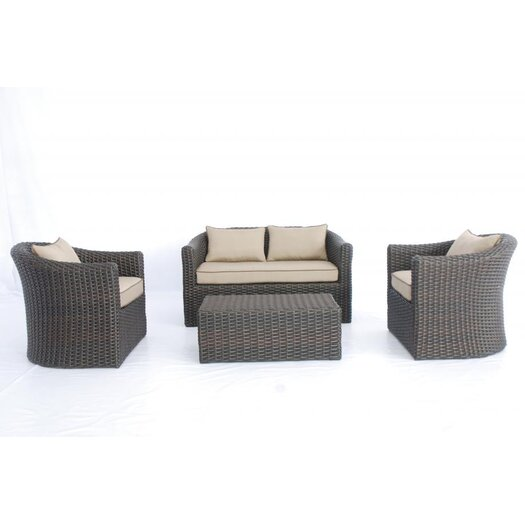 Creative Living Antigua 4 Piece Deep Seating Group with Cushions