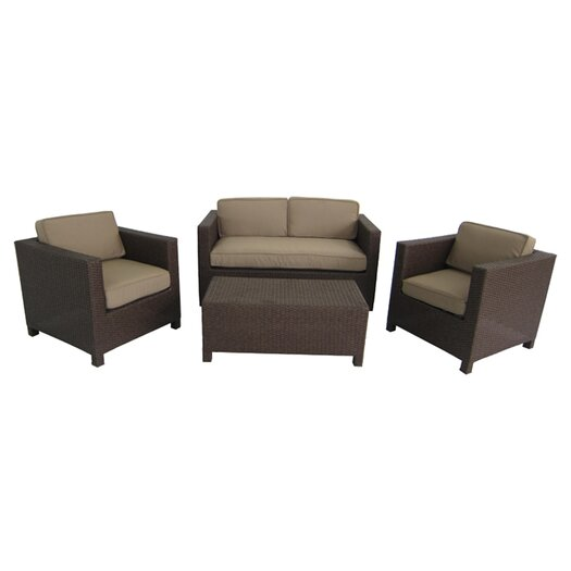 Creative Living Salinas 4 Piece Seating Group with Cushions