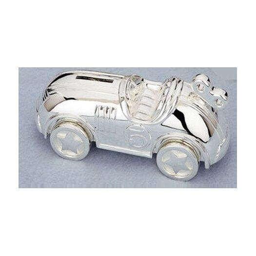 """Reed & Barton Children's Giftware 6.75"""" Race Car Coin Bank"""