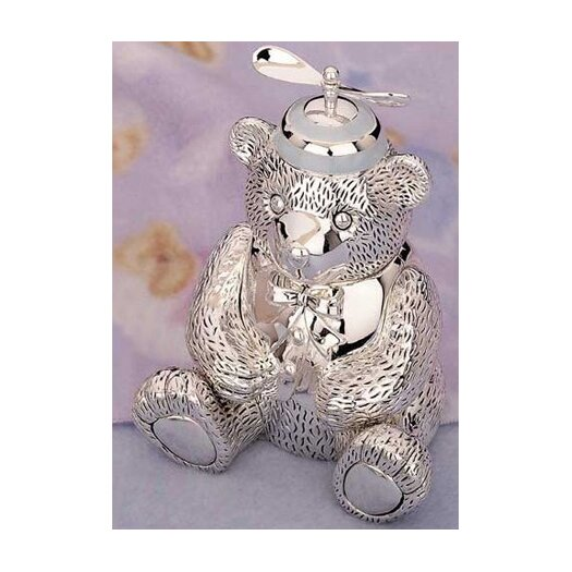 """Reed & Barton Children's Giftware 5.13"""" Boy Bear with Beanie Bank"""