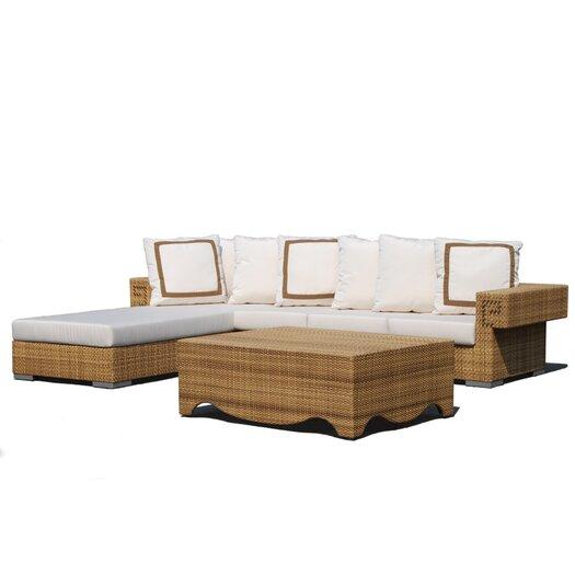 Dann Foley Hollywood 3 Piece Deep Seating Group with Cushions