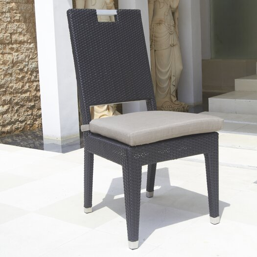 Dann Foley Beverly Stacking Dining Side Chair with Cushion