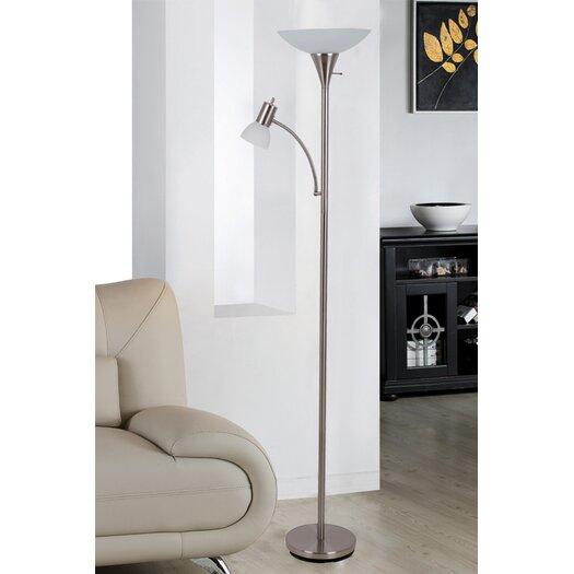 Illuminada Mother and Son Torchiere Floor Lamp