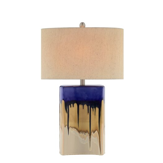 "Illuminada 3-Way Ceramic 27"" H Table Lamp with Drum Shade"