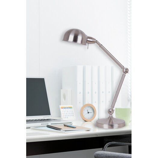 Illuminada Pharmacy Table Lamp in Brushed Steel