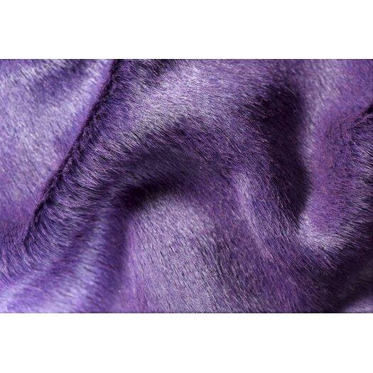 Natural Rugs Geneva Purple Solid Area Rug