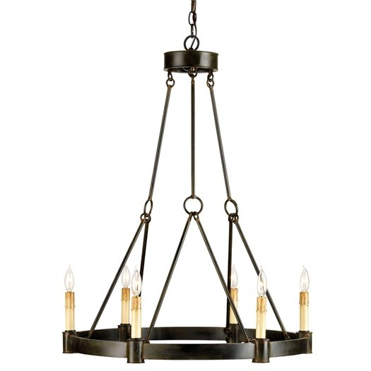 Currey & Company Chatelaine 6 Light Candle Chandelier