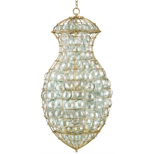 Currey & Company Pastiche 3 Light Chandelier
