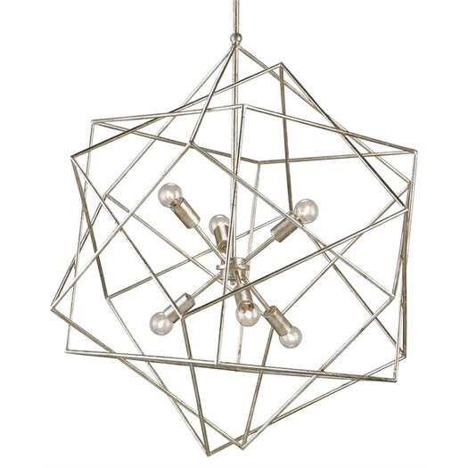 Currey & Company Aerial 6 Light Chandelier