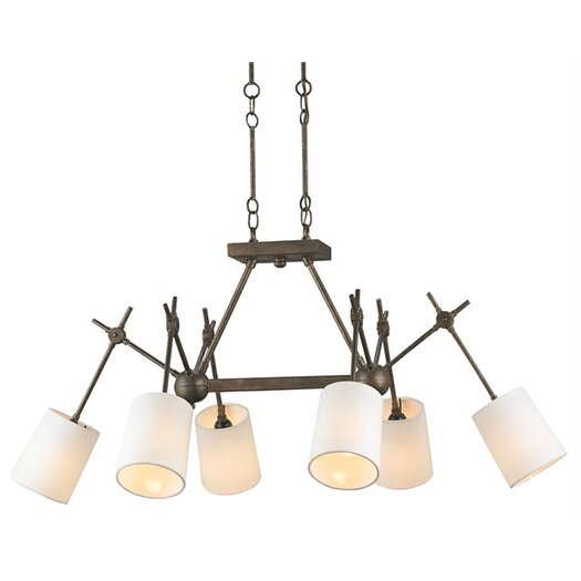 Currey & Company Compass 6 Light Chandelier