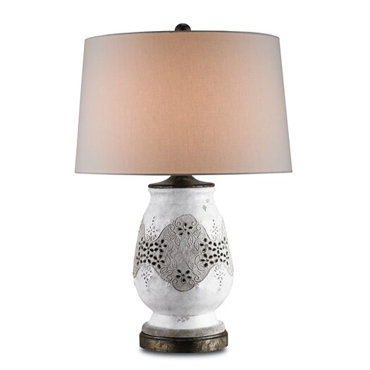 """Currey & Company Snowmelt 29"""" H Table Lamp with Empire Shade"""