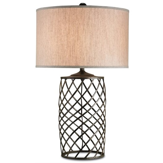 """Currey & Company Dashiell 35"""" H Table Lamp with Drum Shade"""
