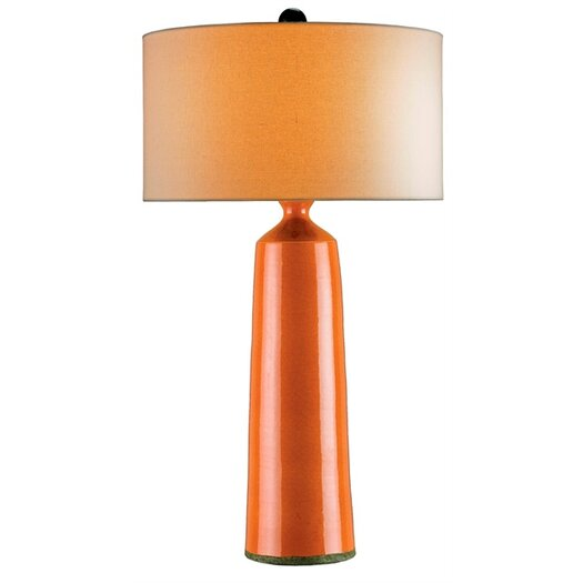 "Currey & Company Prideaux 35"" H Table Lamp with Drum Shade"
