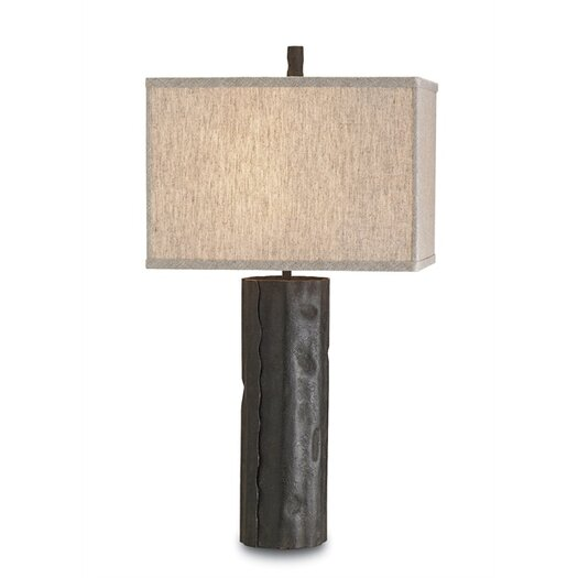 "Currey & Company Caravan 28"" H Table Lamp with Rectangular Shade"