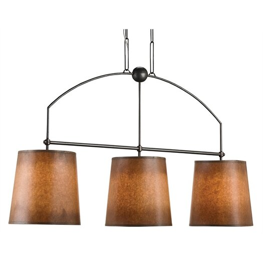Currey & Company Cheroot 3 Light Kitchen Island Pendant