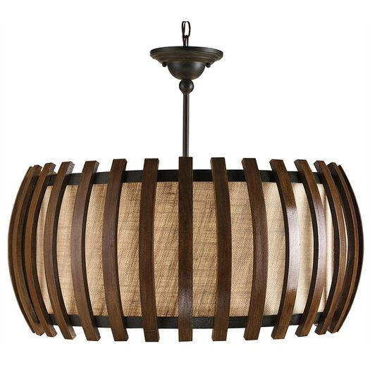 Currey & Company Dado 1 Light Drum Pendant