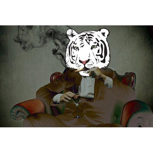 """Salty & Sweet """"Smoking Tiger"""" Canvas Art"""