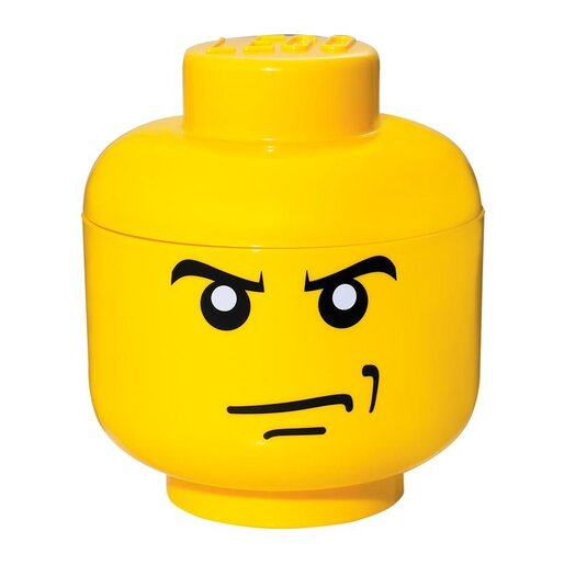 LEGO by Room Copenhagen Small Storage Head Angry Man Toy Box