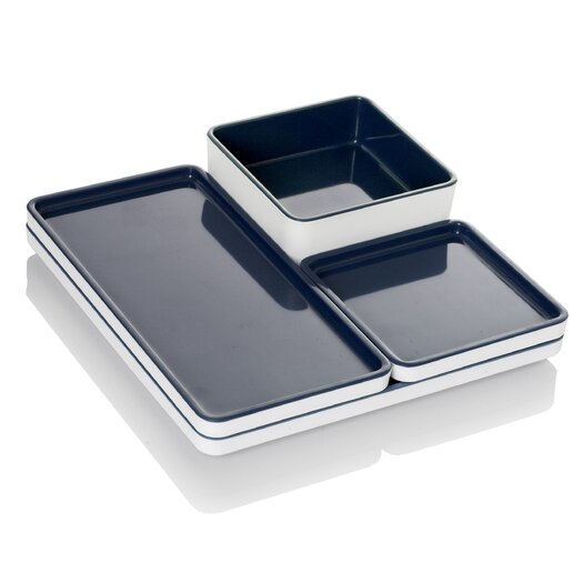 Pantone 4 Piece Modular Food Serving Tray Set