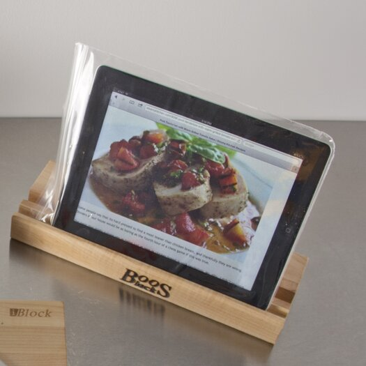 John Boos Gift I Block Cutting Board with Stand