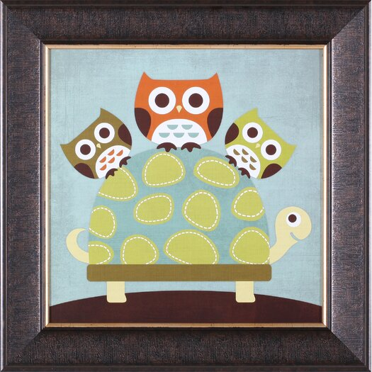 Art Effects ''Three Owls on Turtle'' by Nancy Lee Framed Art