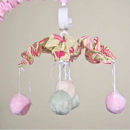 Brandee Danielle Minky Bubbles Pink Musical Mobile