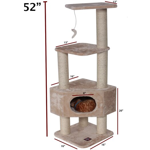 "Majestic Pet Products 52"" Casita Fur Cat Tree"