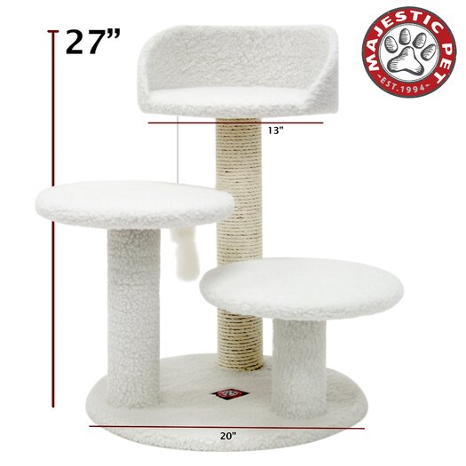 "Majestic Pet Products 27"" Bungalow Sherpa Cat Tree"