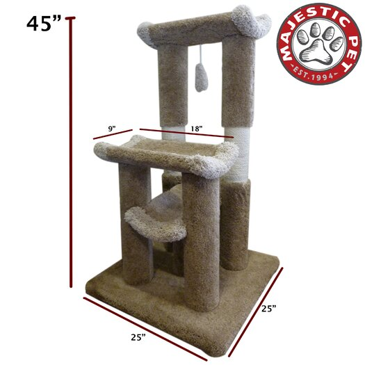 "Majestic Pet Products 45"" Kitty Jungle Gym Cat Tree"
