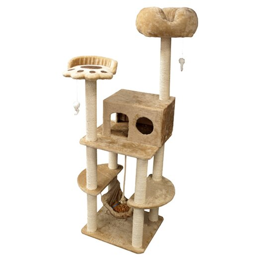 "Majestic Pet Products 76"" Casita Fur Cat Tree"