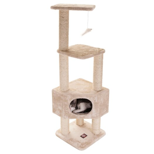 "Majestic Pet Products 52"" Casita Fur Cat Tree"