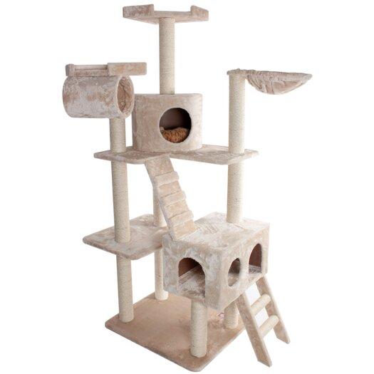 "Majestic Pet Products 73"" Casita Fur Cat Tree"