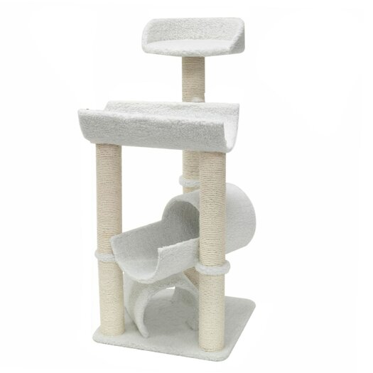 """Majestic Pet Products 44"""" Bungalow Sherpa Cat Tree"""