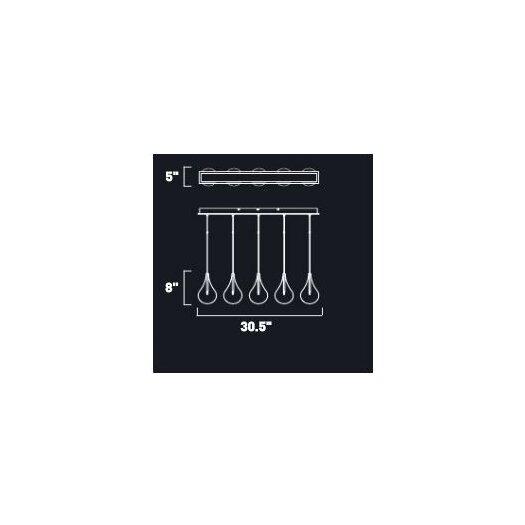 ET2 Sklo 5 - Light Linear Pendant
