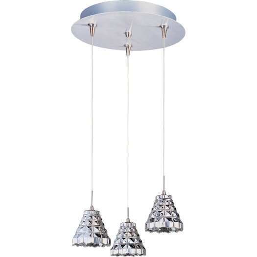 ET2 Geo 3-Light RapidJack Pendant and Canopy