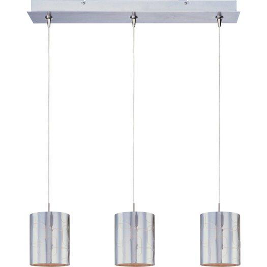 ET2 Silver Plate 3-Light RapidJack Pendant and Canopy