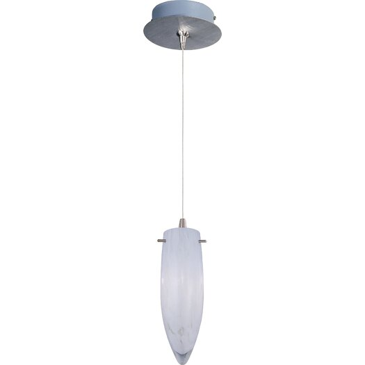 ET2 White Cirrus 1-Light RapidJack Pendant and Canopy