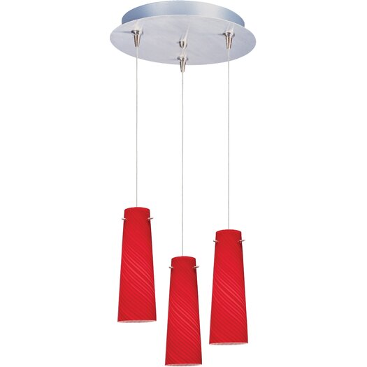 ET2 Sprial 3-Light RapidJack Pendant and Canopy