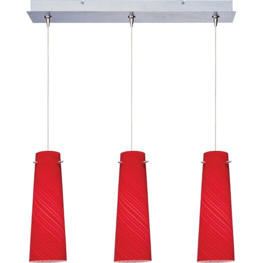 ET2 Sprial 3-Light RapidJack Pendant and Canopy