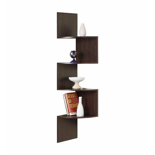 4D Concepts Hanging Corner Bookshelf