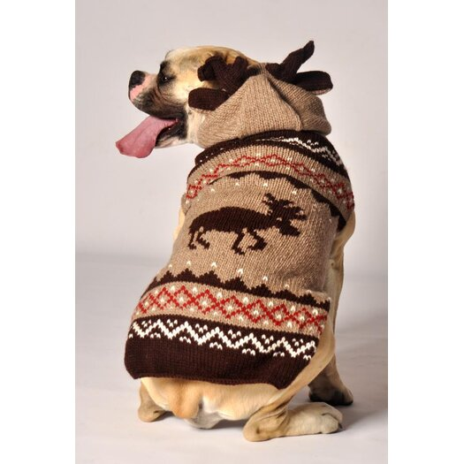 Chilly Dog Moosey Hoodie  Sweater