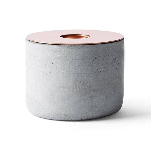 Menu Chunk of Concrete with Copper Votive