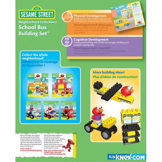 K'NEX Sesame Street Neighborhood School Bus Building Set