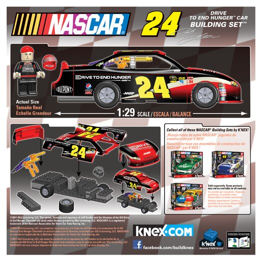 K'NEX NASCAR Drive To End Hunger Car Building Set